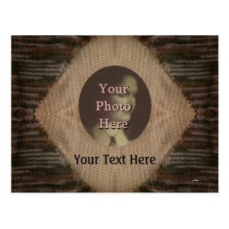 Tan and Brown Knit Postcard