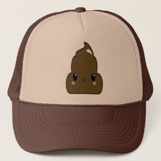 Tan and Brown Poo Hat