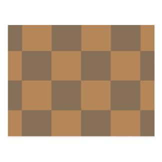 Tan and Grey Tile Pattern Postcard