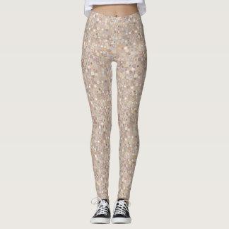 Tan and Pink Dots Leggings