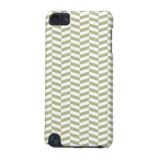 Tan and White Herringbone iPod Touch 5G Case