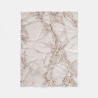 Tan and White Marble Blend Fleece Blanket