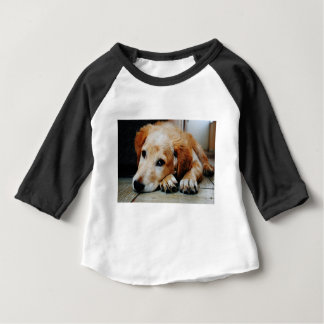 Tan and White Short Coat Dog Baby T-Shirt