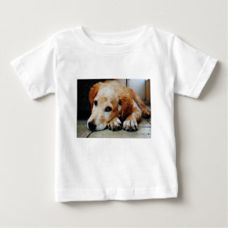 Tan and White Short Coat Dog Baby T-Shirt