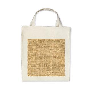 Tan Beige Rustic Burlap Texture Canvas Bag