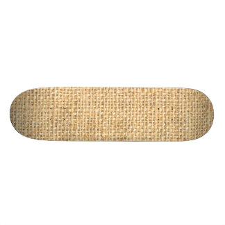 Tan Beige Rustic Burlap Texture Skateboard