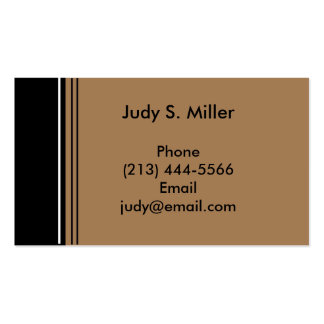 tan black business card template