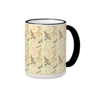 Tan Brown Abstract Shape Mug
