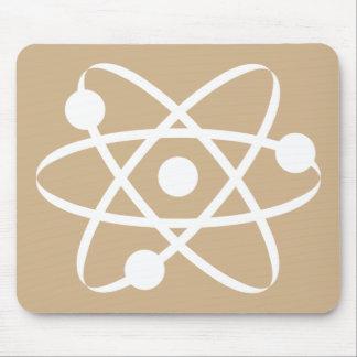 Tan Brown Atom Mouse Pad