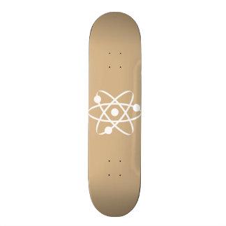 Tan Brown Atom Skateboards