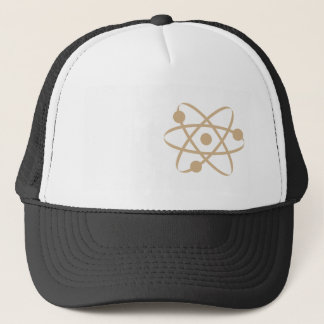 Tan Brown Atom Trucker Hat