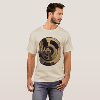 Tan Brown Black Graphics on Tan Plus Size up to 6x T-Shirt