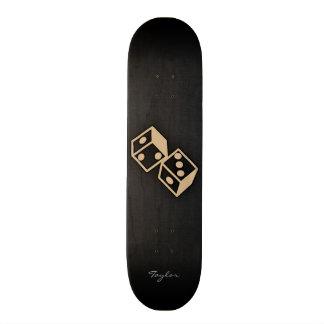 Tan Brown Dice Skate Board Deck