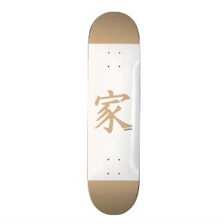 Tan Brown Family Custom Skate Board