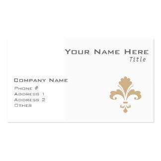 Tan Brown Fleur de lis Business Card Templates