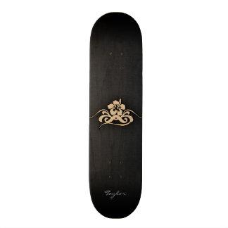 Tan Brown Hibiscus Skateboard Decks