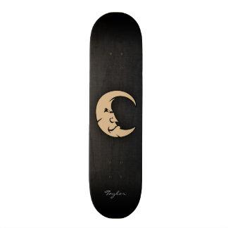 Tan Brown Moon 20.6 Cm Skateboard Deck