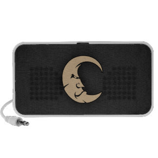 Tan Brown Moon Speaker