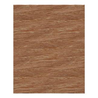 Tan Brown Natural Oak Wood Grain Look 11.5 Cm X 14 Cm Flyer