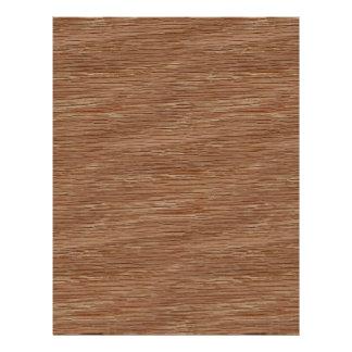 Tan Brown Natural Oak Wood Grain Look 21.5 Cm X 28 Cm Flyer