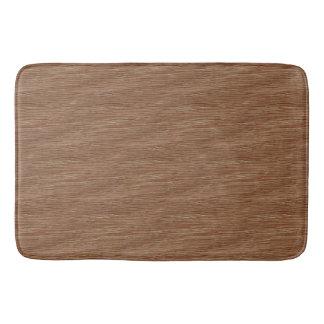 Tan Brown Natural Oak Wood Grain Look Bath Mat