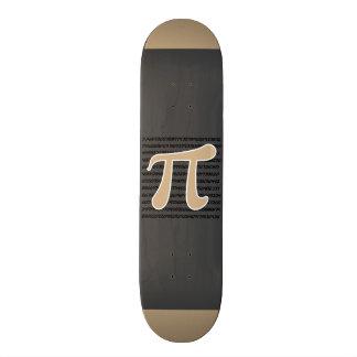 Tan Brown Pi symbol Custom Skate Board