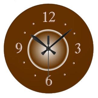 Tan Brown with White Glow Effect > Plain Clocks