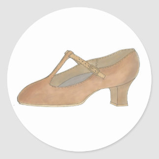 Tan Character Musical Theatre Dance Shoe Sticker