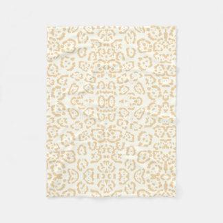 Tan Cheetah Animal Cat Print Fleece Blanket
