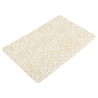 Tan Cheetah Animal Cat Print Floor Mat