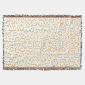 Tan Cheetah Animal Cat Print Throw Blanket