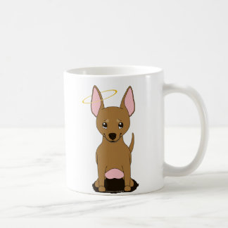 Tan Chihuahua Angel Halo Coffee Mug