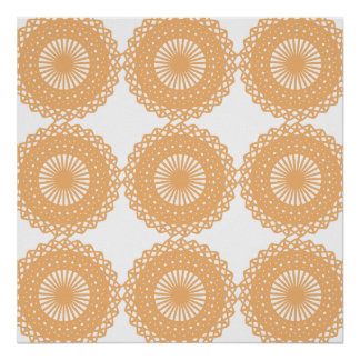 Tan Color Lace Pattern. Poster