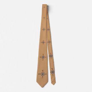 Tan Compass Rose Tie