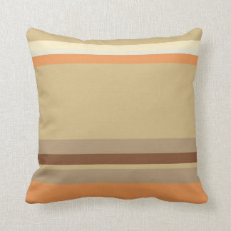 Tan & Cream Colored, Striped Pillow Design