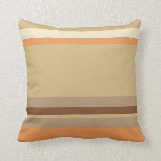Tan & Cream Colored, Striped Pillow Design