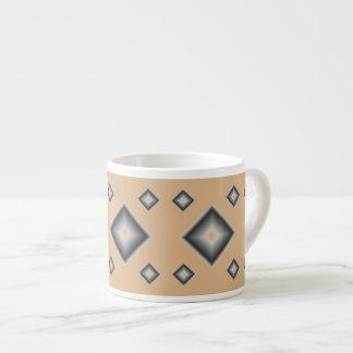 Tan Diamonds Espresso Mug by Janz