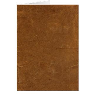 Tan Faux Leather Card