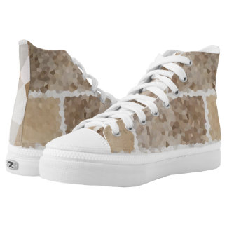 Tan Geometric High Tops