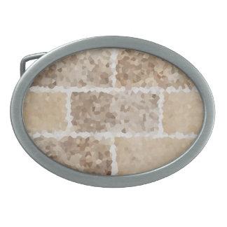 Tan Geometric Oval Belt Buckles