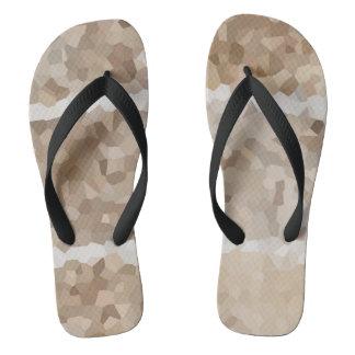 Tan Geometric Thongs