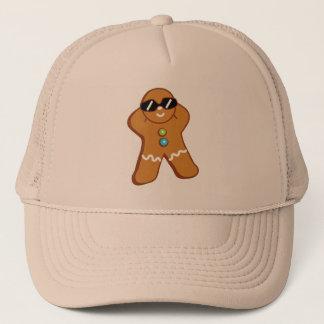 """Tan Gingerbread Man"" Khaki Trucker Hat"