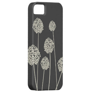 TAN/GRAY STRANGE FLOWERS iPhone Case