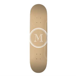 Tan High End Colored Monogrammed Skate Deck
