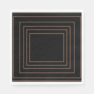 Tan Interior Square Design Disposable Napkin