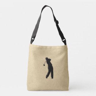 Tan Leather Golf Crossbody Bag