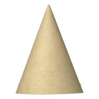 Tan Leather Look Party Hat
