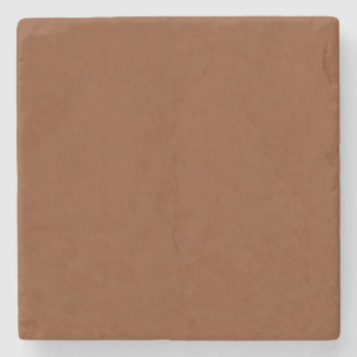 TAN LEATHER TEXTURE MARBLE STONE COASTERS
