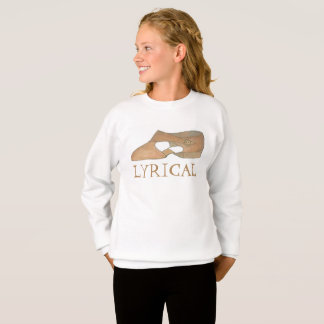 Tan Lyrical Modern Shoe Dance Dancer Sweatshirt