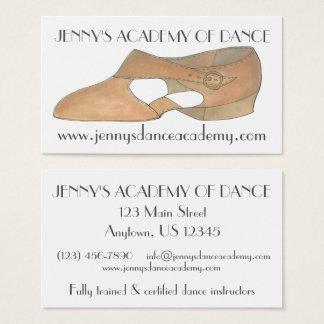 Tan Lyrical Modern Shoe Dance Teacher Studio Business Card